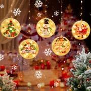 ZSTT Christmas Lantern LED Light String,3D Hanging Lights Christmas Decoration Led String Lights,Curtain Hanging Light for Decor