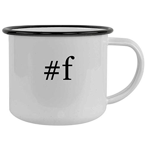 #f - 12oz Hashtag Camping Mug Stainless Steel, Black