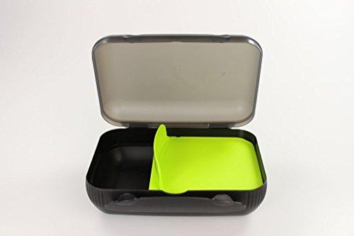 Tupperware Lunch-Box schwarz Limette mit Trennung Brotbox Dose Sandwich MIT Geschenk 14790