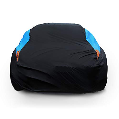 MORNYRAY Waterproof Car Cover All Weather Snowproof UV Protection Windproof Outdoor Full car Cover, Universal Fit for Sedan (Fit Sedan Length 194-206 inch)