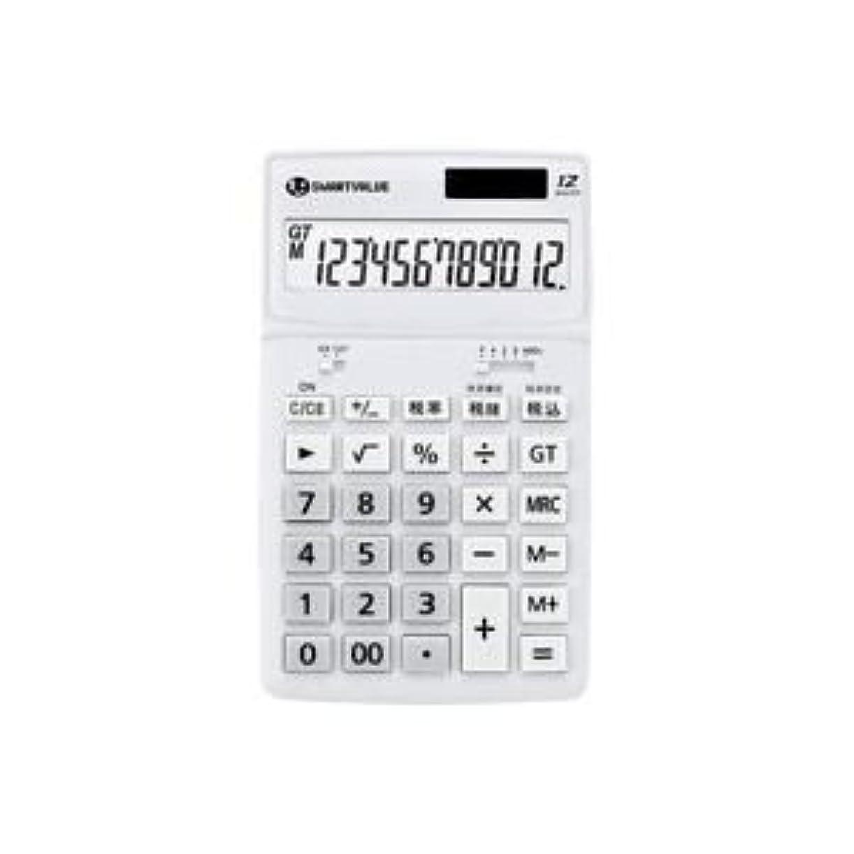 ちょうつがい聴覚アレイ(業務用5セット)ジョインテックス 小型電卓 ホワイト K072J ds-1472047