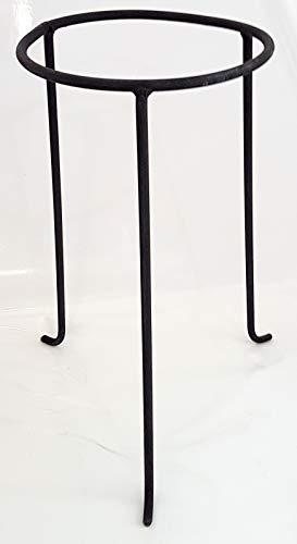 Oberstdorfer Glashütte Dekoständer Metall Ständer Metallhalter Pflanzen für Vasen, Windlichte, Öllampen und Amphoren schwarz Höhe ca. 36,5 cm obere Innen Ø 17,5 cm