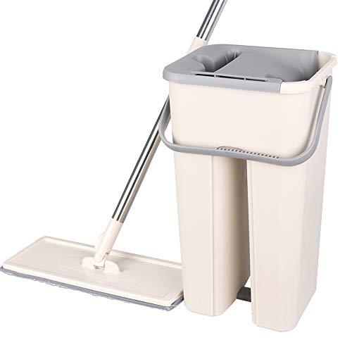 DIANZI Mop platte extrusiemop vrije hand bouten roestvrij staal vat rotatie reiniging microvezel mop
