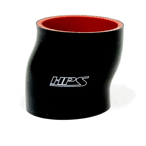 Black Temperature Silicone Coupler Hose 350F Max HPS 2-1//8 ID Pressure High Temp 4-Ply Reinforced 3 Length Silicone 100 Psi Max SC-8522-BLK