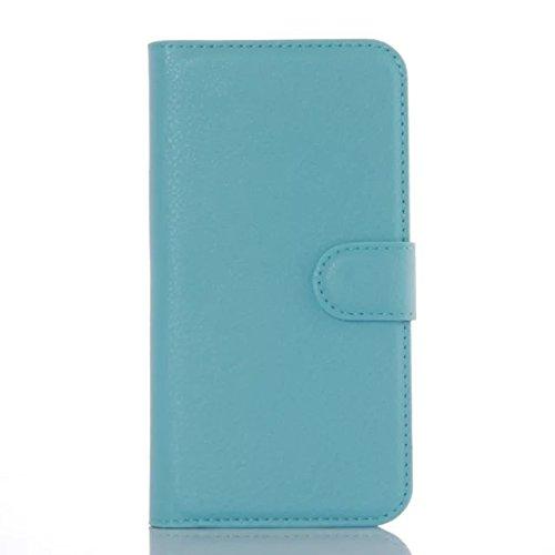 Qiaogle Telefon Case - PU Leder Wallet Schutzhülle Case für Doogee NOVA Y100X (5.0 Zoll) - FC01 / Braun Klassische Solid Color Geschäfts Art