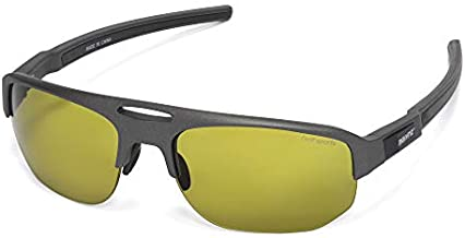Golf Sunglasses for Men Women Driving Baseball Sports Glasses TR90 Wraparound UV Protection Fasion Design Style MZ865 (Gun Color Frame Green Lens)