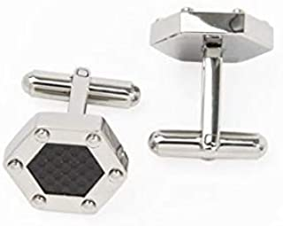 PAREJO CLV-0102 STAINLESS HEXAGONAL CUFFLINK FOR MEN