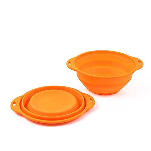 Jovilife Collapsible Bowl, 71OZ Large,Silicone Bowl ,Silicone Mixing bowl Orange(9 Cups/71oz)