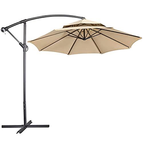 Bilisder 2.7M Large Cantilever Parasol Garden Banana Umbrella Outdoor...
