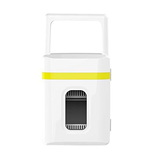 TWW Refrigerador Caja De Refrigerador Coche Portátil Hogar Mini Refrigeración Suministros De Coche 10L 10L Refrigerador Pequeño,Amarillo
