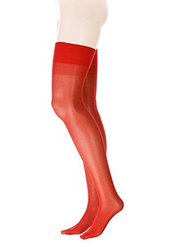 GLAMORY Perfect 20 Calze per Reggicalze, 20 den, Colore: Rosso, XXX-Large (Taglia Produttore:56-58) Donna