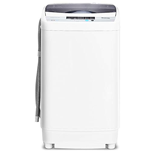 Casart Washing Machine Portable Compact 9.92lbs Capacity Full-Automatic W/Drain Pump,10 programs 8 Water Level 1.34 Cu.ft Cloth Washer and Spinner