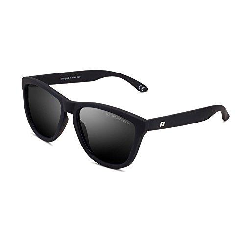 CLANDESTINE Model Matte Black - Gafas de Sol de Nylon HD de Hombre & Mujer