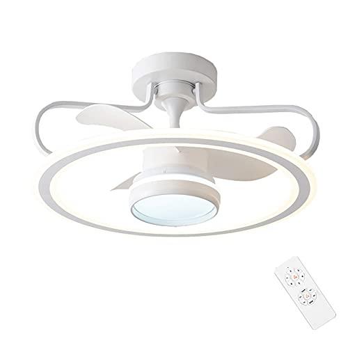 Plafón ventilador de techo LED regulable con mando a distancia reversibles creativo moderno iluminación decorativa 6 velocidades para dormitorio oficina restaurante salón iluminación decorativa