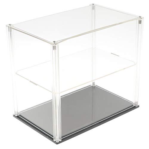 Homyl Transparenter Display-Schaukasten Vitrine Staubschutz Display Box mit schwarzem Sockel für Anime Figuren, Actionfiguren, Modelle, usw. - 23 x 15 x 20 cm