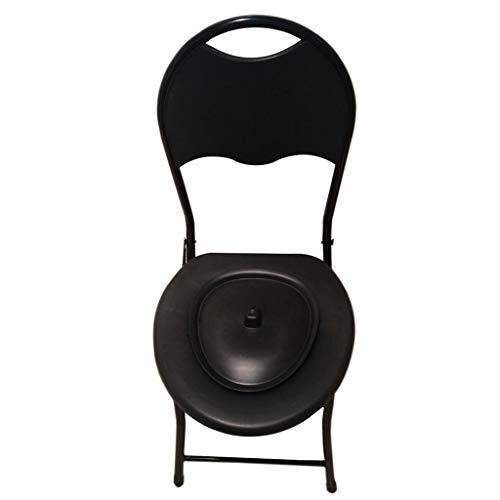 Commode Chair Portable Pliable Salle De Bains Douche Tabouret SièGe De Toilette en Acier Inoxydable Tube Fauteuil Pot HandicapéS Femme Enceinte Personne âGéE
