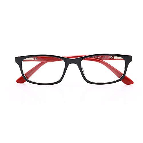 Mobiele telefoon leesbril negatieve ionenergie stralingsbescherming oogbescherming blauw licht blokkerende platte spiegel veerscharnier anti-UV-bril Red Leg