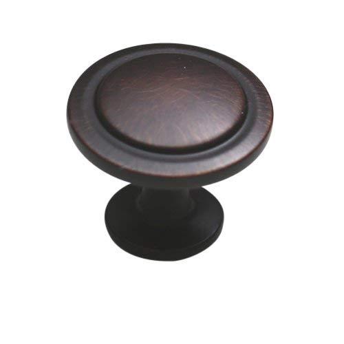 Hamilton Bowes Öl eingerieben Bronze Hardware-Kabinett 1–1/10,2cm rund Pilz Modern Basic Knauf–3,2cm Durchmesser–2,5cm hoch modernes Traditionelle