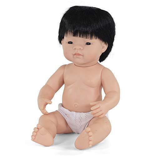 Babypuppe asiatischer Junge 38cm-31055