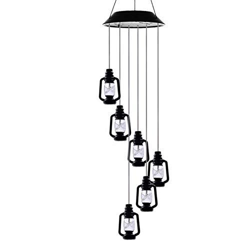 Lámpara de viento solar LED estilo mariposa de 31 pulgadas al aire libre impermeable jardín guirnalda luces colgantes Navidad vacaciones lámpara solar decoración botellas de queroseno 4212.7cm