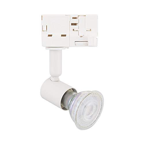 Faretto Portalampada a binario trifase per lampadina GU10 illuminazione negozi vetrine negozi (K5500)