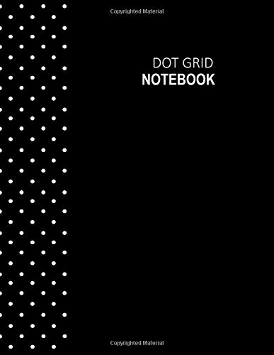 Dot Grid Notebook: Black Polka dots pattern cover, Dot Grid Journal, 8.5 x 11 inch, A4, 200 sheets / 400 pages, Dotted Grid Spacing Size 0.2