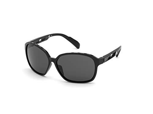 adidas SP0013 Gafas, Shiny Black/Smoke, 62 para Mujer