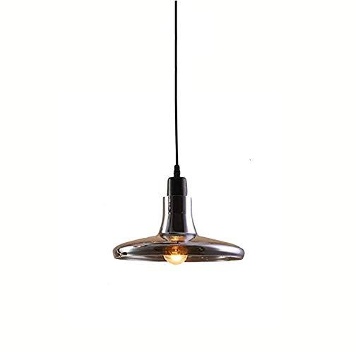 Liuqing Vintage Industrial Style theme kroonluchter rook glas grijs moderne decoratieve hanglamp eenvoudige mode E27 plafondlamp hotel restaurant verlichting