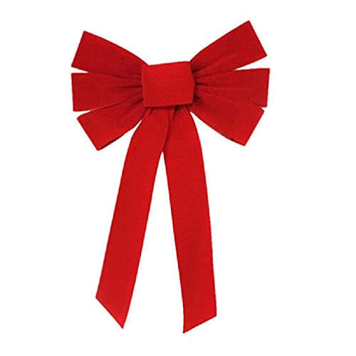Red Bow Velvet Christmas Bows Hanging Holiday Xmas Bows for Christmas Wreaths Decoration or Tree Toppers Indoor and Outdoor Decor Party Supply Christmas Decorations for The Home