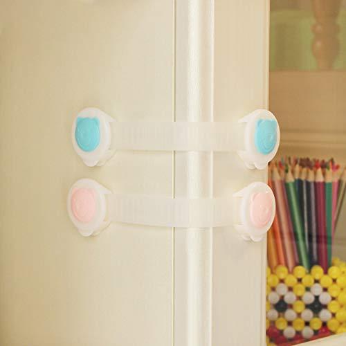 FairOnly Baby Long Safety Lock multifonction pour tiroir de réfrigérateur avec ruban adhésif double face – Bébé