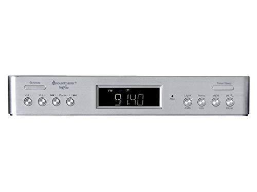 Soundmaster UR2045SI DAB+ und UKW-RDS Küchenunterbauradio mit Bluetooth