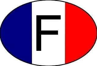 Mon Blason - Imagen adhesiva, diseño de la bandera de Francia, ovalado, 10 x 6,8 cm