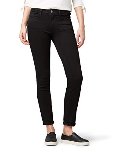 TOM TAILOR Damen Jeanshosen Alexa Slim Jeans Black Denim,30/32