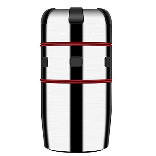 CNmuca Espremedor manual de sucos manuais Cirtus Press Juicer portátil de aço inoxidável com tampa giratória e com filtro Ferramentas de cozinha prata + vermelho