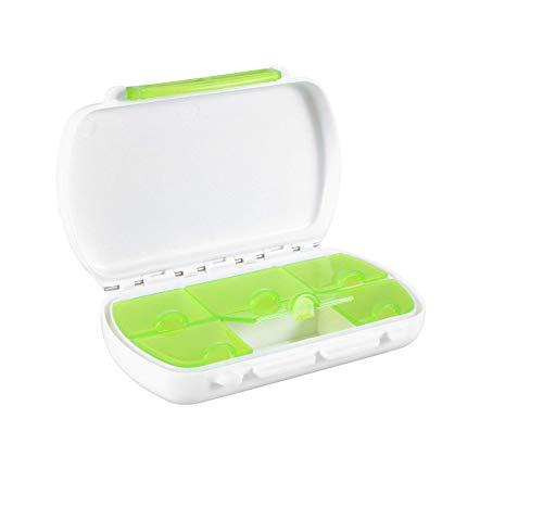 Xrten Mini Organizador de Pastillas semanal con 6 Compartimentos, Pastillero Diario Viaje