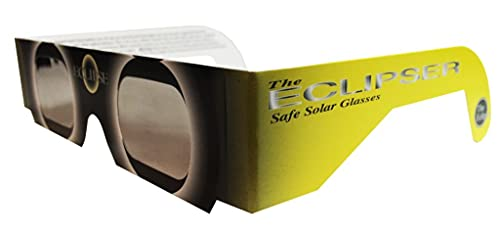 Solar Eclipse Glasses - ISO Certified, CE Approved - 3 Pairs - 'Yellow Sun' - Solar Shades