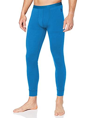 Odlo SUW Bottom Pant Natural 100% Merino Warm Haut Homme, Mykonos Blue, FR (Taille Fabricant : XL)