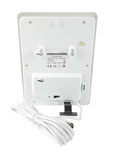 Xoro HAN 310 Flache DVB-T/T2 Zimmerantenne mit Fotorahmen (VHF/UHF, Verstärker, LTE Filter, 3m Kabellänge) weiß