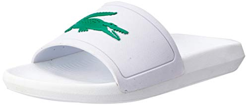 Lacoste Damen Croco Slide 119 3 CFA Sandalen, Blanc (White/Green), 38 EU