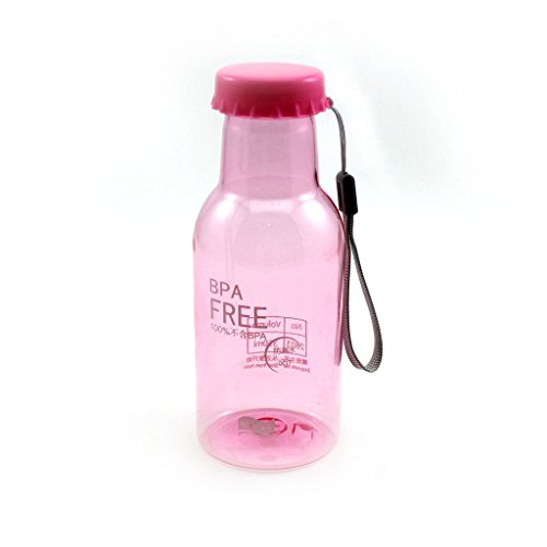 MMRM Unbreakable bouteille de soda anti-fuite du camping moto vélo tasse d'eau 350ML - Rose pâle
