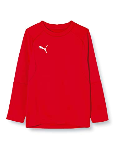 PUMA Kinder LIGA Training Sweat Jr Sweatshirt, Red White, 128