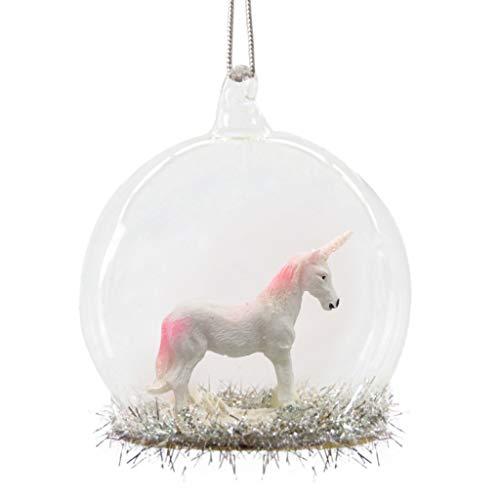 Bezaubernde Christbaumkugel 'Pink Einhorn' aus Glas
