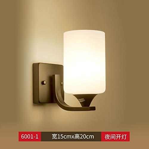 Agorl Nordic lampe de chevet applique murale chambre simple éclairage créatif salon applique murale allée, gris 6001 noir simple tête + chaud