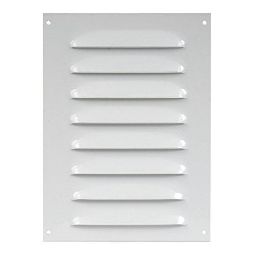 140x190mm Rejilla de ventilación, Sobreponer blanco rectangular fija, metal , mr1419