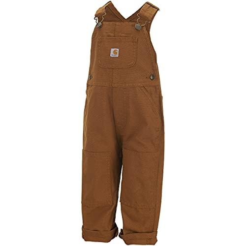 Carhartt Baby-boys Infant Washed Duck Bib Overall, Brown, 18 Mo.