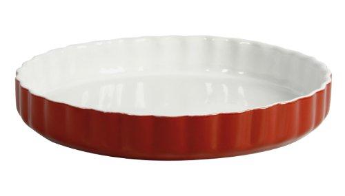 Crealys 512735 Obstkuchenform, Keramik, 28 cm, himbeerfarben