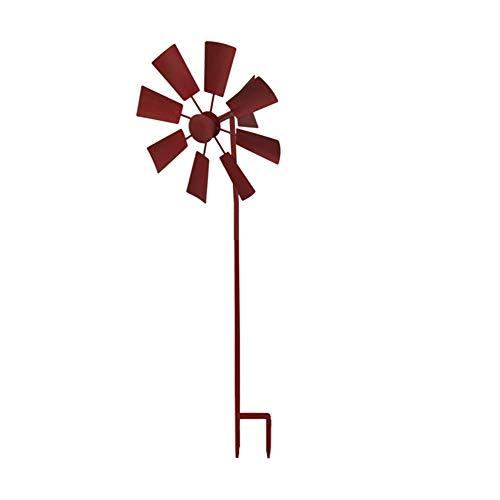 Hainice Molinillos De Estaca Jardín del Viento Molinos De Viento Spinners Spinners Viento Giratoria De Decoración De Efecto Invernadero Al Aire Libre del Césped Claret