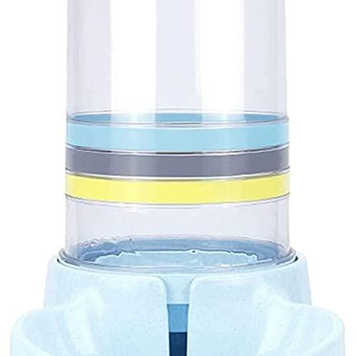 Dispensadores de agua para masco Alimentadores automáticos Cats de gran capacidad Fuente de agua Plástico Dog Bottle Botella de alimentación Dispensador de agua (Color: Azul) Fuente de agua para gatos