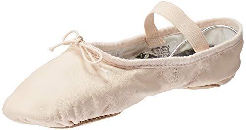 Bloch Girl's Dance Dansoft II Leather Split Sole Ballet Shoe/Slipper, Theatrical Pink, 1 X-Narrow Little Kid
