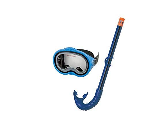 Intex Schnorchelset Schnorchel 55942  -Set Adventurer, Blau (Gelb/Weiß)
